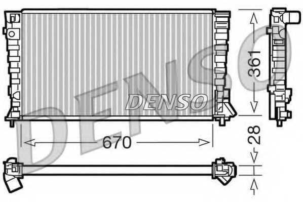 Радиатор охлаждения двигателя DENSO DRM07020 - изображение