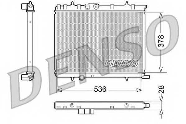 Радиатор охлаждения двигателя DENSO DRM07021 - изображение