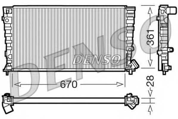 Радиатор охлаждения двигателя DENSO DRM07030 - изображение