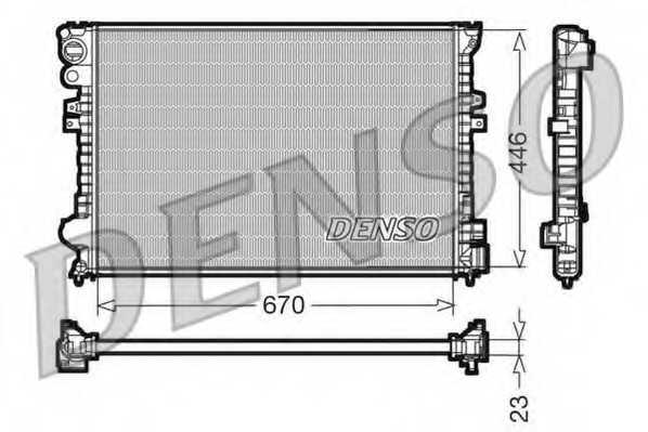 Радиатор охлаждения двигателя DENSO DRM07055 - изображение