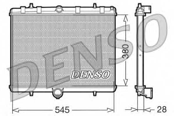 Радиатор охлаждения двигателя DENSO DRM07060 - изображение