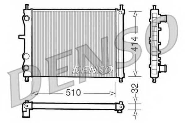 Радиатор охлаждения двигателя DENSO DRM09020 - изображение