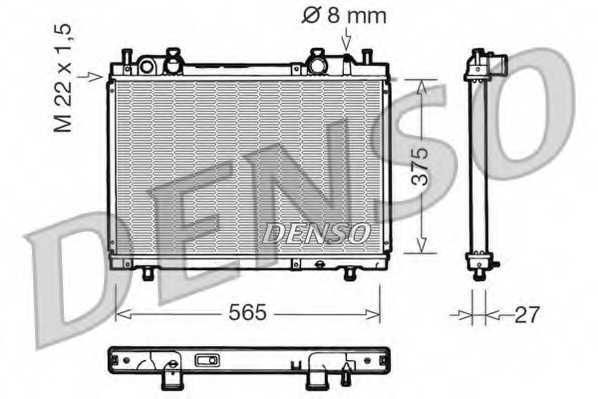 Радиатор охлаждения двигателя DENSO DRM09026 - изображение