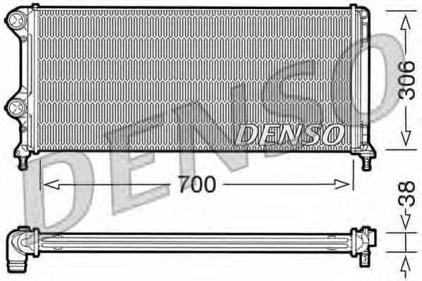 Радиатор охлаждения двигателя DENSO DRM09060 - изображение