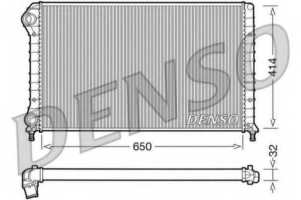 Радиатор охлаждения двигателя DENSO DRM09062 - изображение