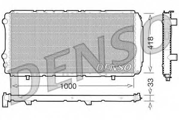 Радиатор охлаждения двигателя DENSO DRM09075 - изображение