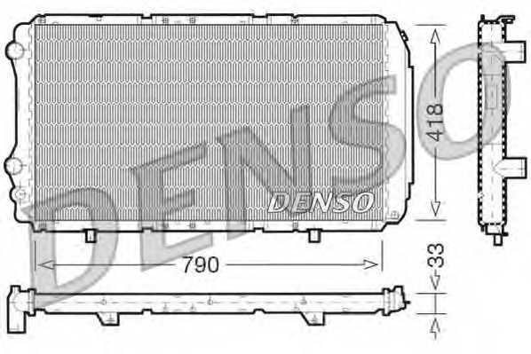 Радиатор охлаждения двигателя DENSO DRM09076 - изображение