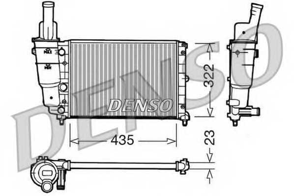 Радиатор охлаждения двигателя DENSO DRM09095 - изображение