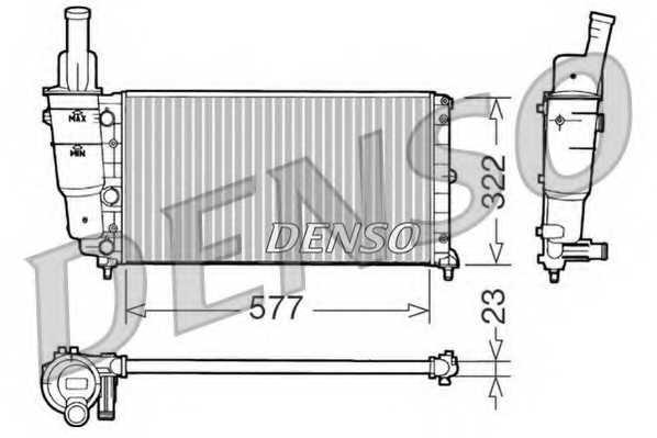 Радиатор охлаждения двигателя DENSO DRM09096 - изображение