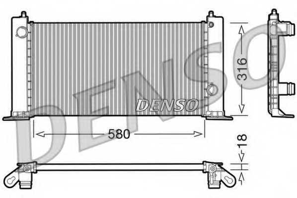 Радиатор охлаждения двигателя DENSO DRM09120 - изображение