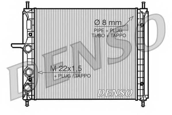 Радиатор охлаждения двигателя DENSO DRM09150 - изображение