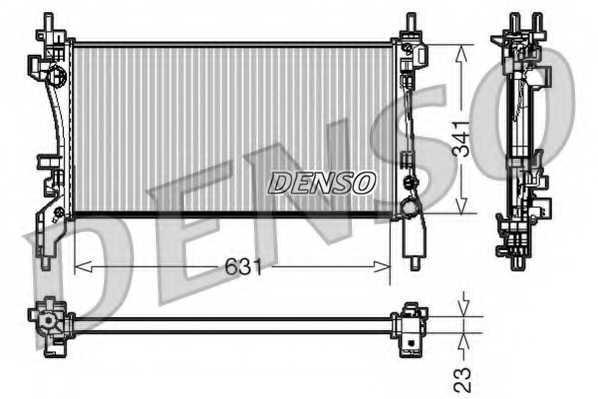 Радиатор охлаждения двигателя DENSO DRM09172 - изображение