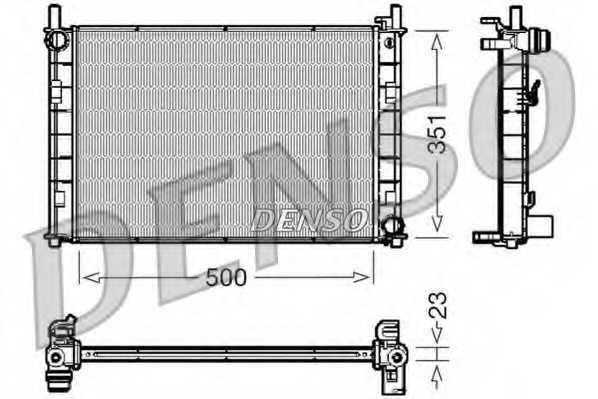 Радиатор охлаждения двигателя DENSO DRM10045 - изображение