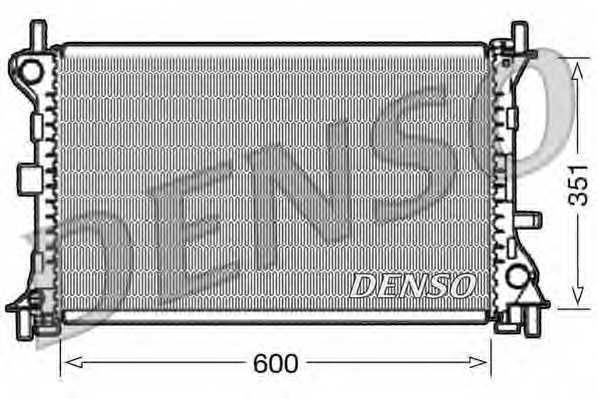 Радиатор охлаждения двигателя DENSO DRM10052 - изображение