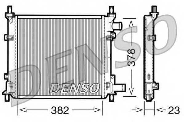 Радиатор охлаждения двигателя DENSO DRM10060 - изображение