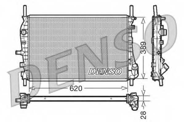 Радиатор охлаждения двигателя DENSO DRM10073 - изображение