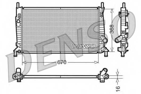 Радиатор охлаждения двигателя DENSO DRM10075 - изображение