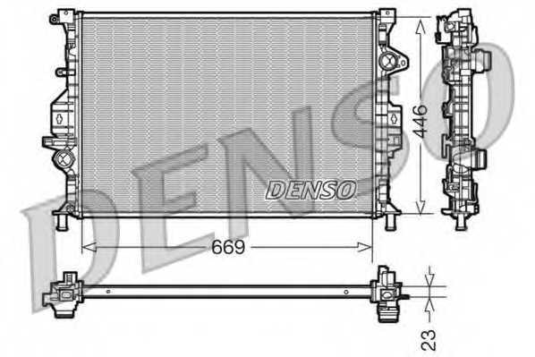 Радиатор охлаждения двигателя DENSO DRM10077 - изображение