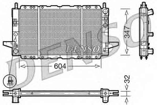 Радиатор охлаждения двигателя DENSO DRM10086 - изображение