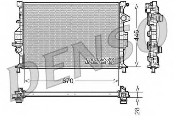 Радиатор охлаждения двигателя DENSO DRM10088 - изображение