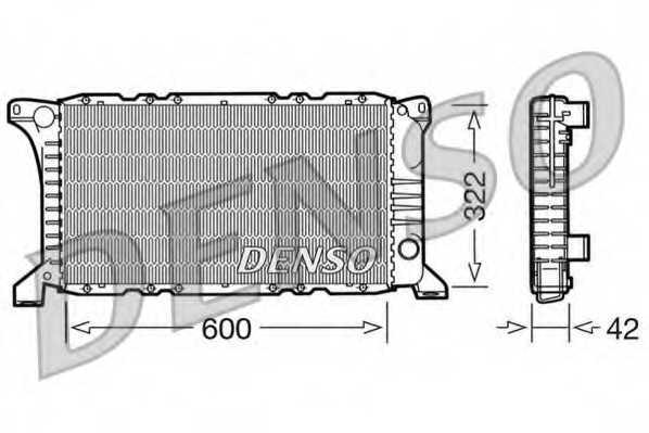Радиатор охлаждения двигателя DENSO DRM10097 - изображение