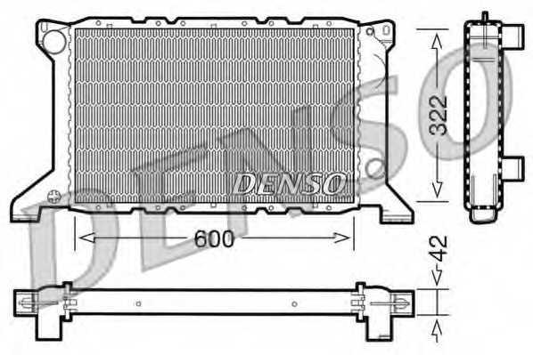 Радиатор охлаждения двигателя DENSO DRM10098 - изображение