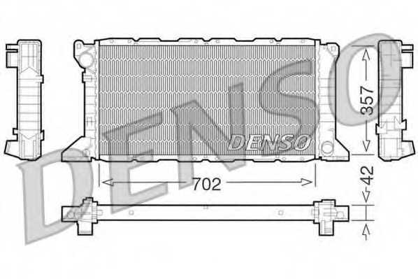 Радиатор охлаждения двигателя DENSO DRM10099 - изображение