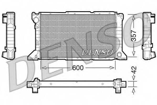 Радиатор охлаждения двигателя DENSO DRM10100 - изображение