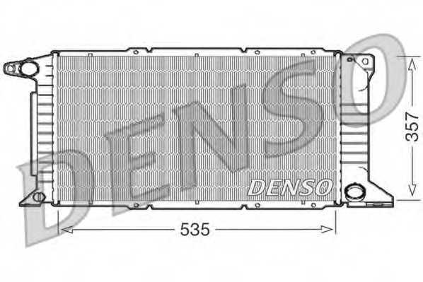 Радиатор охлаждения двигателя DENSO DRM10101 - изображение