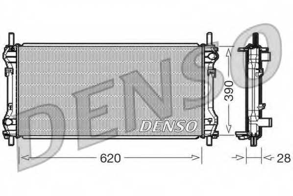 Радиатор охлаждения двигателя DENSO DRM10102 - изображение