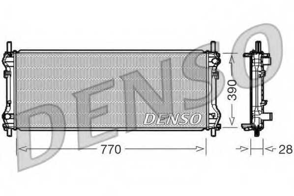Радиатор охлаждения двигателя DENSO DRM10103 - изображение