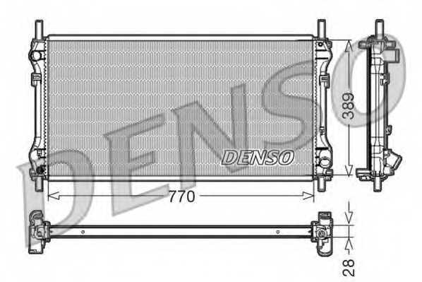 Радиатор охлаждения двигателя DENSO DRM10104 - изображение