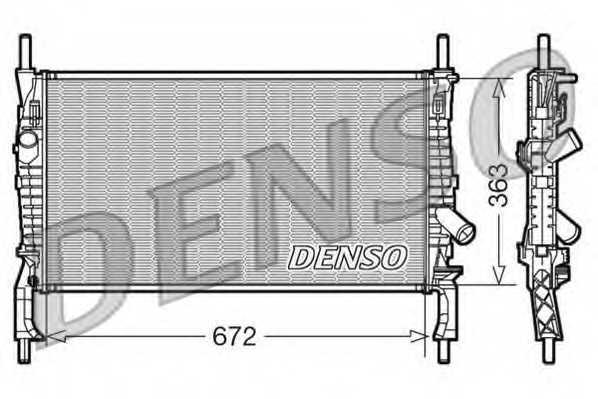 Радиатор охлаждения двигателя DENSO DRM10105 - изображение