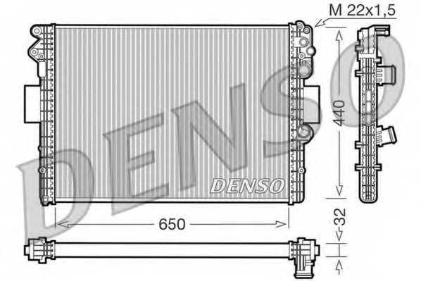 Радиатор охлаждения двигателя DENSO DRM12001 - изображение