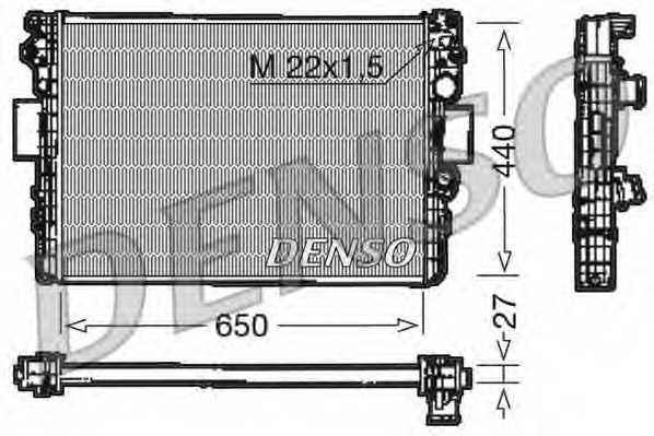 Радиатор охлаждения двигателя DENSO DRM12003 - изображение