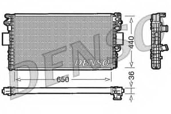 Радиатор охлаждения двигателя DENSO DRM12004 - изображение