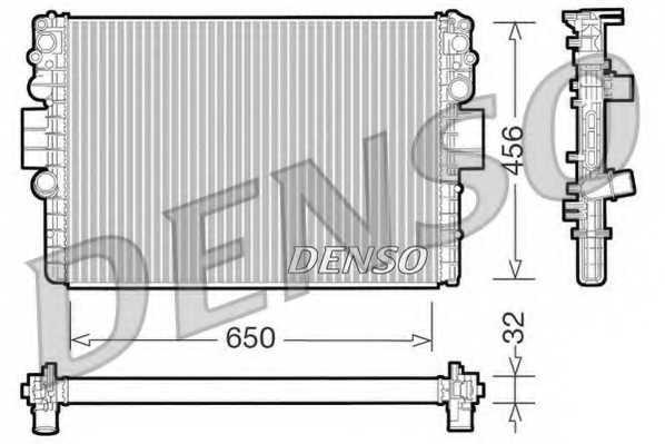 Радиатор охлаждения двигателя DENSO DRM12006 - изображение