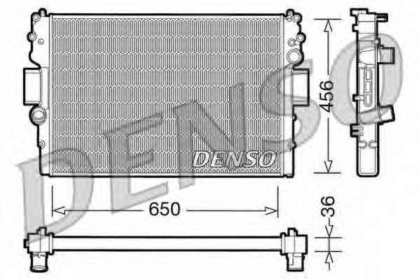 Радиатор охлаждения двигателя DENSO DRM12007 - изображение