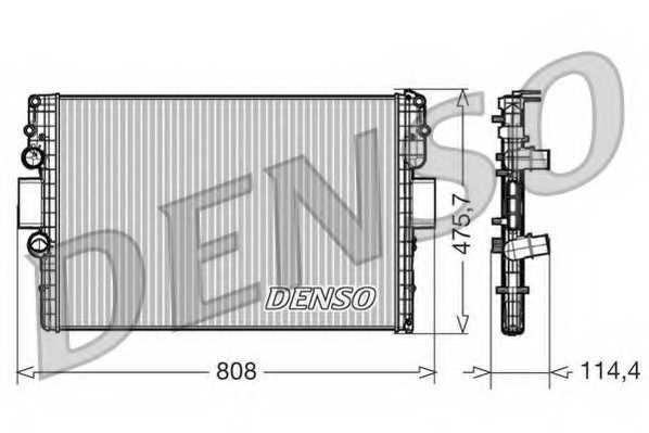 Радиатор охлаждения двигателя DENSO DRM12010 - изображение