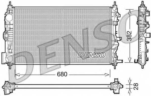 Радиатор охлаждения двигателя DENSO DRM15005 - изображение