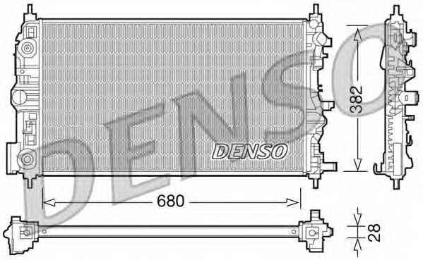 Радиатор охлаждения двигателя DENSO DRM15006 - изображение