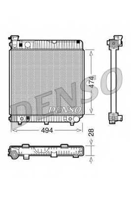Радиатор охлаждения двигателя DENSO DRM17002 - изображение