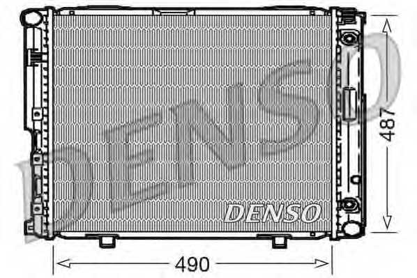 Радиатор охлаждения двигателя DENSO DRM17004 - изображение