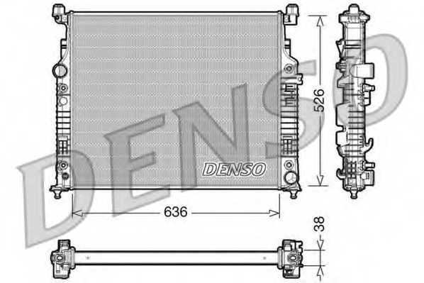 Радиатор охлаждения двигателя DENSO DRM17006 - изображение