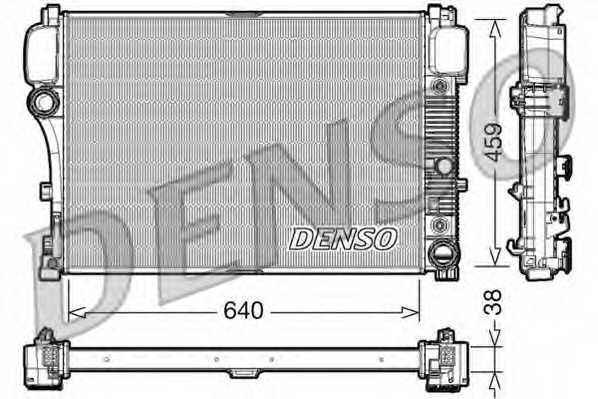 Радиатор охлаждения двигателя DENSO DRM17008 - изображение