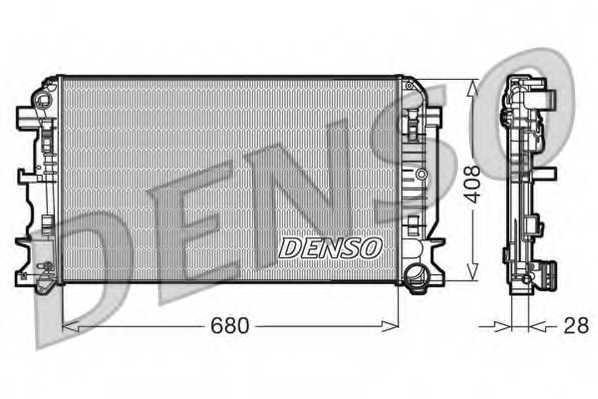 Радиатор охлаждения двигателя DENSO DRM17009 - изображение