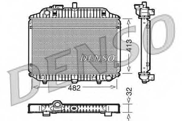 Радиатор охлаждения двигателя DENSO DRM17010 - изображение