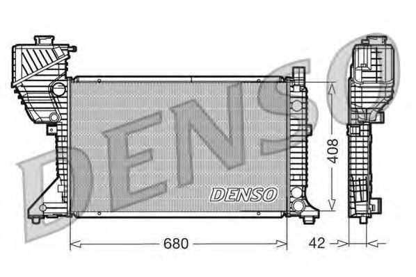 Радиатор охлаждения двигателя DENSO DRM17011 - изображение