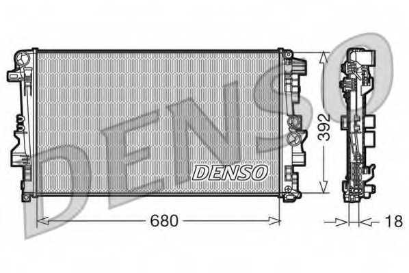 Радиатор охлаждения двигателя DENSO DRM17012 - изображение