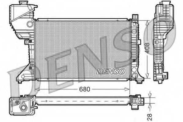 Радиатор охлаждения двигателя DENSO DRM17015 - изображение